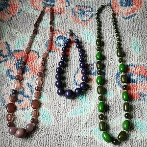 Three Chunky Necklaces